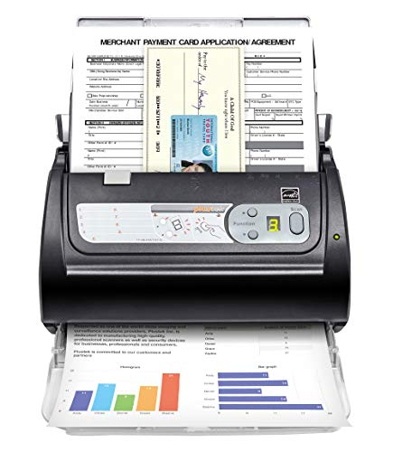 Plustek PS188 High Speed Document Scanner – 30 Pages Per Minute, with Full Text Search Engines,Multiple Scan Destinations. Support Windows 7/8/10