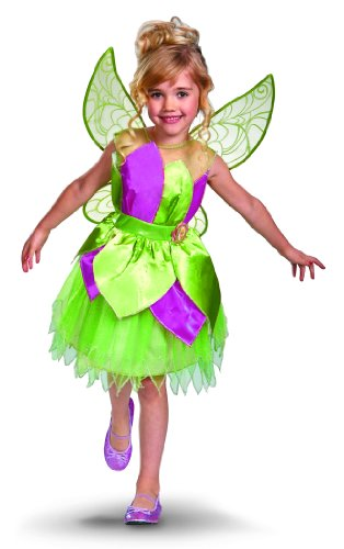 Child Deluxe Peter Pan Costumes (Disney Fairies Tinker Bell Deluxe Girls Costume, 7-8)