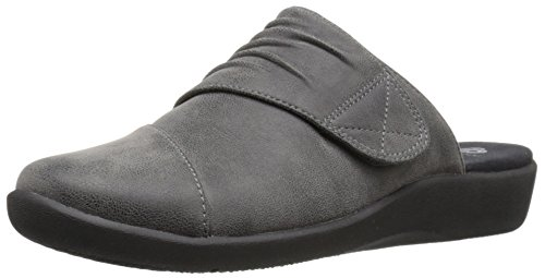 Clarks Women's Sillian Rhodes Mule, Grey Synthetic Nubuck...