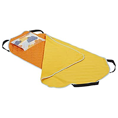ECR4Kids Toddler Nap Mat Companion - Portable All-in-One Preschool/Daycare Nap Bundle with Built-in Liner, Blanket and Removable Pillow, Tangergine Clouds Design: Kitchen & Dining