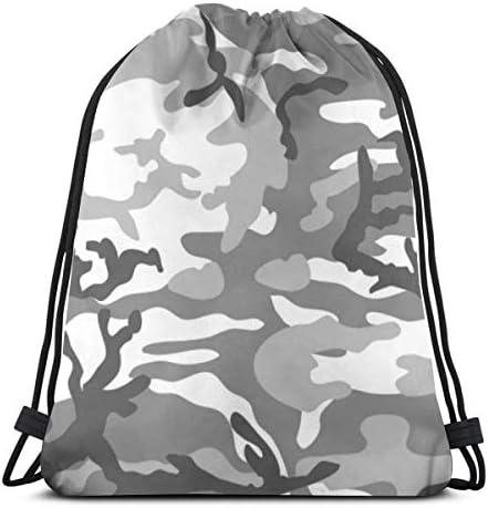 カモグレードローストリングバッグジムダンスバッグバックパックハイキングビーチトラベルバッグ36 x 43cm