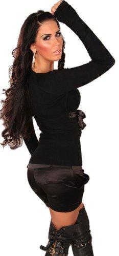 Instyle - Jersey - Básico - Col V - Manga Larga - para mujer negro