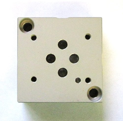 RR SP6SN-1X/A-12 - Fluidyne Aluminum Sub Plate. Fits D03 Style valves. #6 ORB ports. (Rexroth # SP6SN-1X/A-12 | Daman # AD03SPS6S).