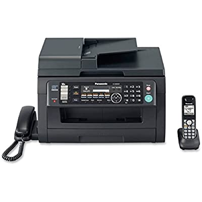 Panasonic Laser Multifunction Printer - Monochrome - Plain Paper Print - Desktop - Answering Machine/Copier/Fax/Printer/Scanner/Telephone - 24 ppm Mono Print - 600 x 600 dpi Print - 24 cpm Mono Copy LCD - 600 dpi Optical Scan - 250 sheets Input - Fast Eth