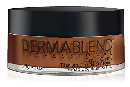 Chocolate Foundation - Dermablend Cover Creme High Coverage Foundation with SPF 30, 80W Chocolate Brown, 1 Oz.
