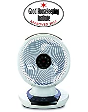 Meaco MeacoFan 1056 Air Circulator, Bedroom, Desk Fan, Low Noise, Energy efficient, Whole Room Cooling, White