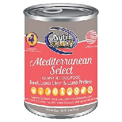 Nutri Source Grain Free Canned Mediterranean Blend Dog Food 12/13oz