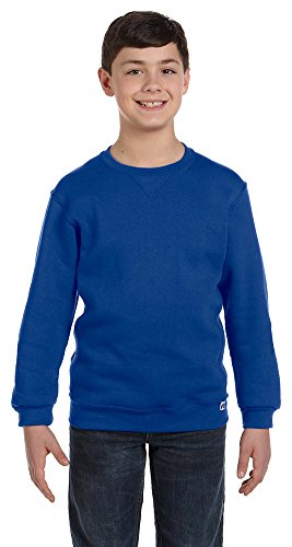 Russell Athletic Youth Dri-Power Fleece Crew, Large, ROYAL