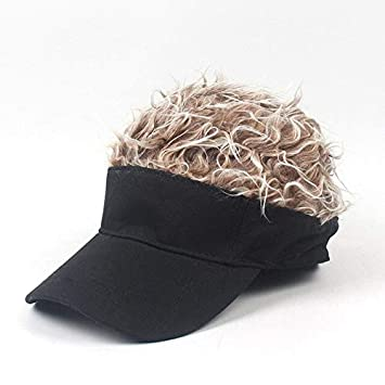 HONGHENG Tamaño Ajustable para Hombre Fake Hair Peluca Gorra De ...
