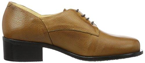 John W. Shoes Merida, Zapatos de Cordones Derby para Mujer marrón (Cuero)