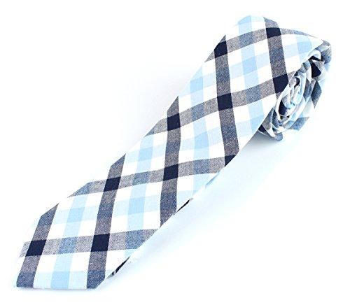 Buy light blue and white checkered dress - 8