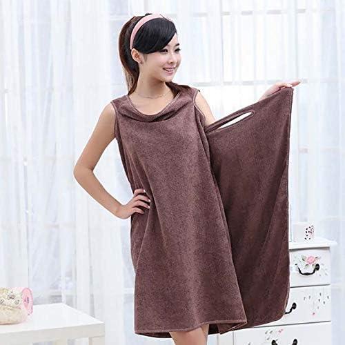 Femme Serviette de Bain Peignoir Robe en Microfibre Doux pr Salle de Bain Plage