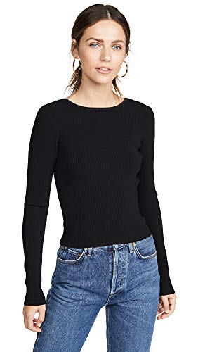 (Ramy Brook Women's Lucas Sweater, Black, Small)