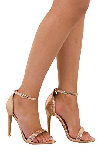 Catwalk , Sandales pour femme or rose gold