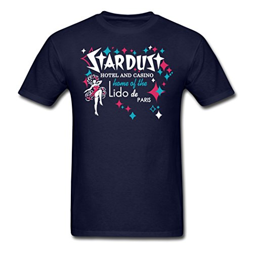 (AOO 2015 and 2016 Modern Men's Stardust Casino T-Shirts Navy M)