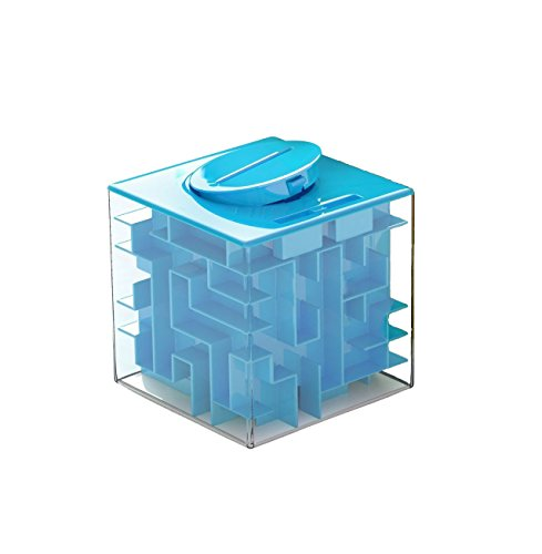 Maze Box (LightTheBo Money Maze Puzzle Box For Kids and Adults - Unique Way To Give Gifts For Special People this Holiday(Blue))