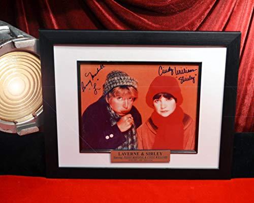 "Signed PENNY MARSHALL & Cindy Williams, Rare ""LAVERNE & SHIRLEY"" Autograph & set-used SCRIPT, Frame COA, UACC"