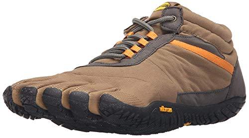 Vibram Men's Trek Ascent Insulated-M Sneaker, Khaki/Orange, 43.0 D EU (9.5-10 US) (Best Shoes For Icy Pavements)