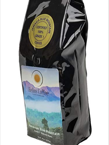 - 100% Jamaican Blue Mountain Coffee, Whole Bean, Pure Origin, 1lb.