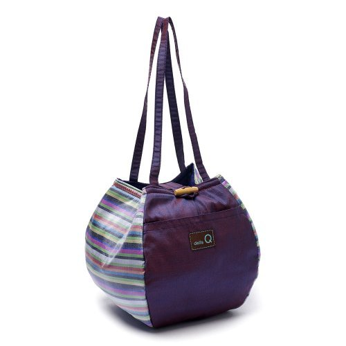 Della Q Purple Rosemary Small Project Knitting Yarn Tote Bag 220-1