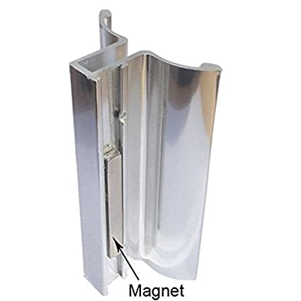 Bright Chrome Frameless Shower Door Handle With Magnet Amazon