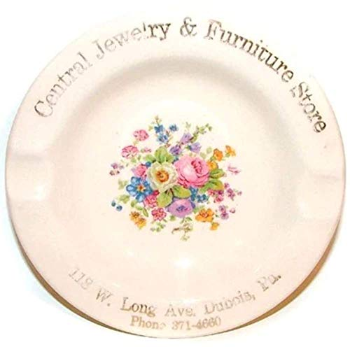 Salem China Central Jewelry & Furniture Store Advertising Ashtray - DuBois, PA