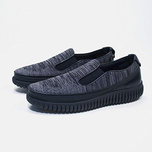 Knit con Scarpa Sneakers ACBC Nera e Suola Stringa Scarpa Zip con ZxEBqU