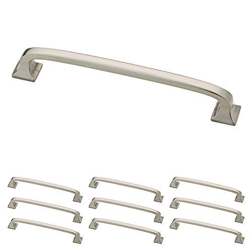 Franklin Brass P29614K-SN-B Satin Nickel 5-Inch Lombard Kitchen or Furniture Cabinet Hardware Drawer Handle Pull, 10 pack (Drawer Satin Hardware Nickel)