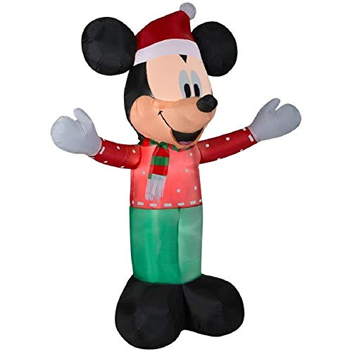 Gemmy Large Disney 6' Lighted Mickey Mouse Christmas Airblown Inflatable