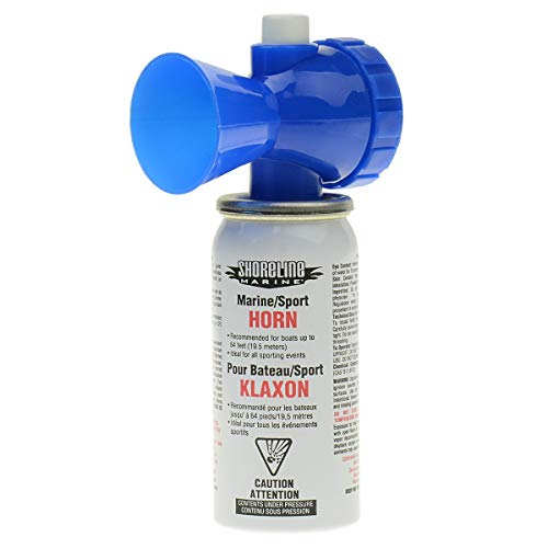 (Shoreline Marine Air Horn Can and Blow Horn, 1.4 ounce )