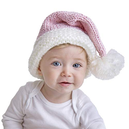 Huggalugs Baby Toddler & Adult Pink Sparkle Santa Hat XL