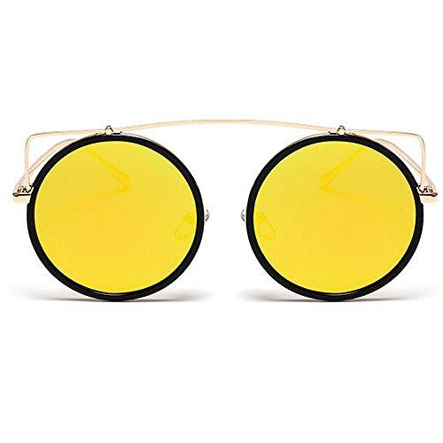 Voyage Nuances colorée UV Brillants Yeux de KOMEISHO UV Couleur Forme Conduite Style de la lentille Lunettes air Rond Chat C2 Soleil Rétro en de C3 Designer nouveauté Plein tfqqgxw76