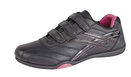 Para Negro Pdq Mujer fuchsia T657 Zapatillas Black qz1w1PE6