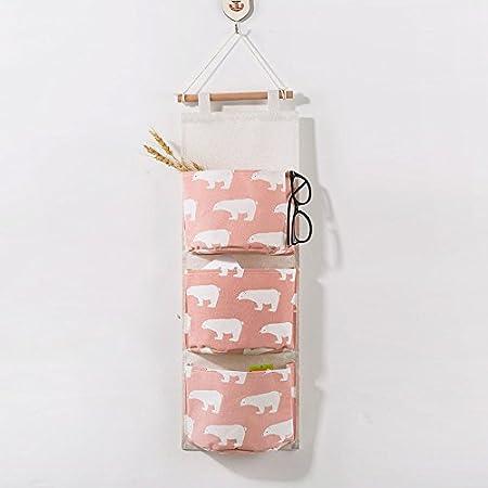 GUOYIHUA 3 Tasche Parete Armadio Appeso Cosmetici da Parete Borsa portaoggetti da Appendere Borsa Portachiavi Gadget della, Cotone, 01, 61 * 20.5 * 10cm
