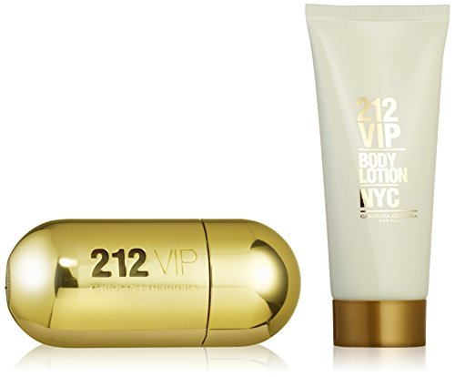 212 Vip by Carolina Herrera Gift Set -- 1.7 oz Eau De Parfum Spray + 3.4 oz Body Lotion for (Chic For Women Body Lotion)