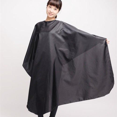 Black Waterproof Salon Barber Gown Cape Hairdresser Hair Cut Cutting Cloth Apron Jakgrit (50s Haircuts)