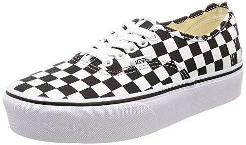 Vans Unisex Authentic Platform 2.0 Skate Shoe (8.5 M US Women / 7 M US Men, Checkerboard/True White)