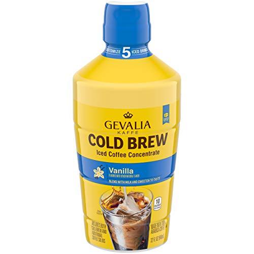 Gevalia Cold Brew Vanilla Iced Coffee Concentrate (32 oz Bottle)