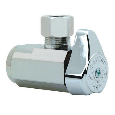 Brasscraft Shut-Off Valve < 0.25 % Lead Angle 1/2