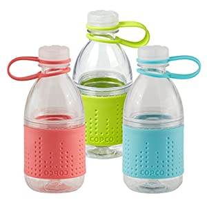 Copco Hydra Bottle, 10-ounce, 3 Pack, (Coral, Lime, Mint)