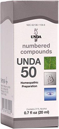 UNDA - UNDA 50 Numbered Compounds - Homeopathic Preparation - 0.7 fl oz (20 ml) ()