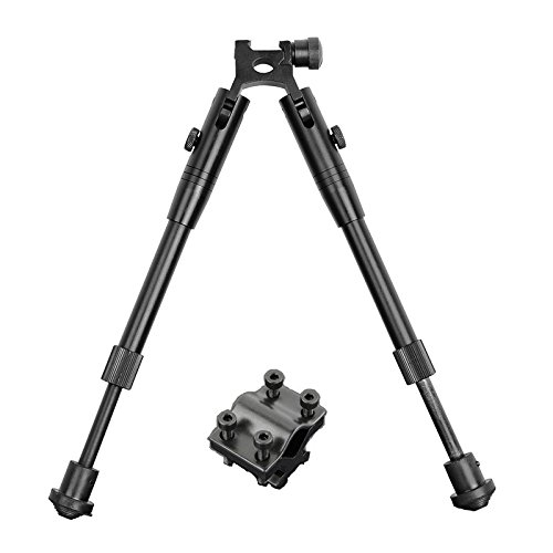 Beileshi Tactical Bipod Universal Adjustable Height Picatinny Rail/swivel Mount Bipod with Rifle Barrel Clamp Accessory Weaver Mount (Bipod Barrel)