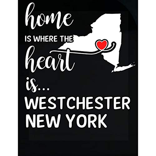 Inked Creatively Westchester County New York is Where My Heart is Gift - Sticker