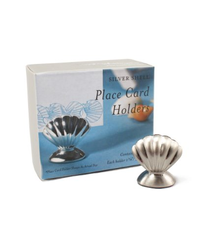 Shell Silver Place Card Holders - 8 pieces