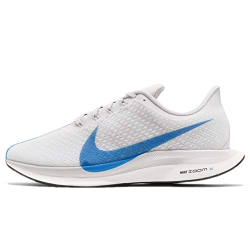 Nike Men's Air Zoom Pegasus 35 Turbo Running Shoes (9.5, White/Blue)