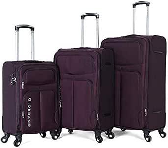 حقيبة جيوردانو - 1617616 طقم حقائب سفر ناعم 3 قطع مع 4 عجلات