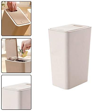 Westeng Tipo di pressa per rifiuti in plastica con coperchio per cestino da cucina per ufficio A