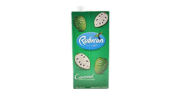 Amazon.com : Rubicon Guanabana Exotic Juice Drink - 33.8fl oz (12 pack) : Grocery & Gourmet Food