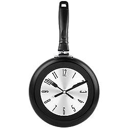 Kitchen Wall Clock, Soledi 8 Modern Design Metal Frying Pan Kitchen Wall Clock Home Decor