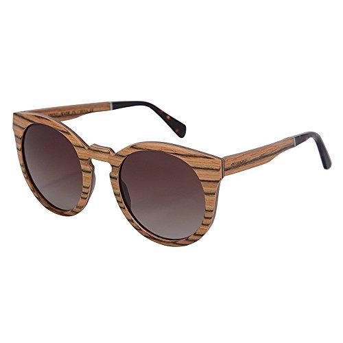 al en de conducción Gafas UV de Gu Vacaciones Gafas Sol TAC los Alta Calidad Peggy de Sol Hombres la Hechas Mano a Madera Libre Lens de Polarized Protección de Beige Playa de Aire 1SWRxnCwqp
